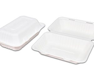 Caserola cu Capac Unica Folosinta, Biodegradabila & Compostabila 23 x 16 cm (250 buc)