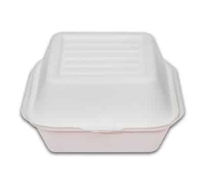 Caserola cu Capac Pentru Burger Unica Folosinta, Biodegradabila & Compostabila 15cm (500 buc)